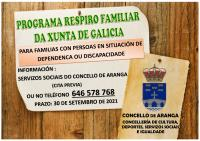 PROGRAMA DE RESPIRO FAMILIAR 2021 DA XUNTA DE GALICIA