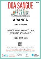 CAMPAÑA DE DOAZÓN DE SANGUE ( 10 DE MAIO EN ARANGA)