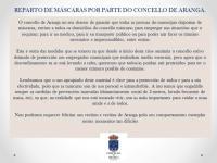 REPARTO DE MÁSCARAS POR PARTE DO CONCELLO DE ARANGA