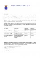 ANUNCIO DE CONCESIÓN DE SUBVENCIÓNS MUNICIPAIS PARA ACTIVIDADES DEPORTIVAS